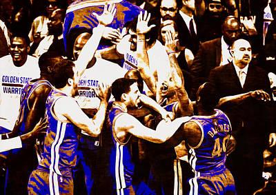 Golden State Warriors 2015 Nba Finals Art Print by Brian Reaves