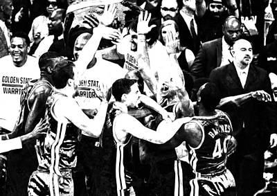 Golden State Warriors 2015 Nba Finals S1 Art Print by Brian Reaves