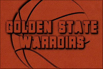 Coach Photograph - Golden State Warriors Leather Art by Joe Hamilton