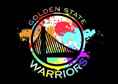 Digital Art - Golden State Warriors Pop Art by Ricky Barnard