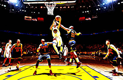 Stephen Barry Digital Art - Golden State Warriors Shaun Livingston by Brian Reaves