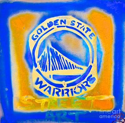 Berkeley Painting - Golden State Warriors Street Art #1 by Tony B Conscious