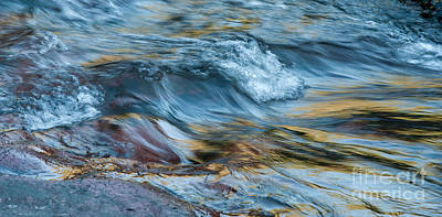 Photograph - Golden Strands Of Water by Sandra Bronstein