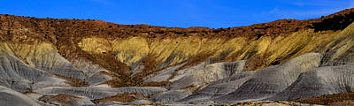Photograph - Golden Strata Panorama by Nadalyn Larsen