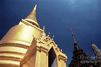 Photograph - Golden Stupa Wat Phra Kaew Temple  by Heiko Koehrer-Wagner