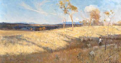 Australian Landscape Painting - Golden Summer, Eaglemont by Arthur Streeton