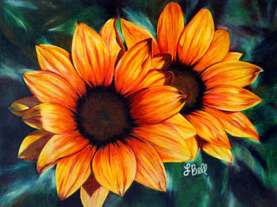 Sunflowers Drawing - Golden Sun by Laura Bell