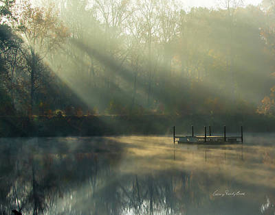 Photograph - Golden Sun Rays by George Randy Bass