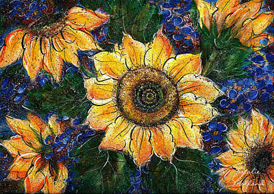 Painting - Golden Sunflowers by Natalie Holland