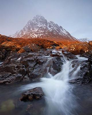 Photograph - Golden Sunlight Hits Stob Dearg by Stephen Taylor