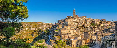 Basilicata Photograph - Golden Sunlight Over The Ancient Roofs Of Matera by JR Photography