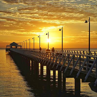 Photograph - Golden Sunrise At Shorncliffe Pier by Keiran Lusk