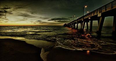 Golden Sunrise At The Pier Original