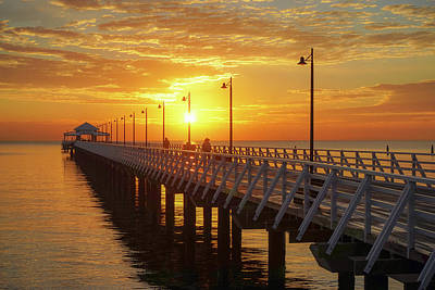 Golden Sunrise Down By The Bay Art Print