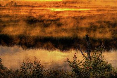 Rhinelander Photograph - Golden Sunrise Fog by Dale Kauzlaric