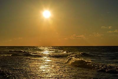 Photograph - Golden Sunrise In Gulf Shores by Michael Thomas