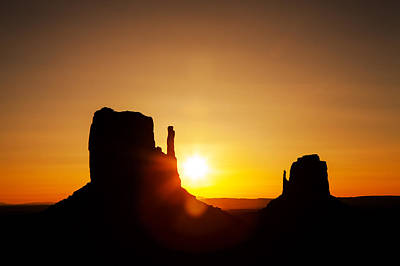 Photograph - Golden Sunrise In Monument Valley National Park by Susan Schmitz