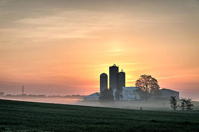 Midwest Photograph - Golden Sunrise In The Countryside by Matt Hammerstein