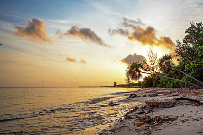 Photograph - Golden Sunrise On Cozumel Beach by Susan Schmitz