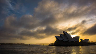 Photograph - Golden Sunrise Sydney Opera House 2 by Lawrence S Richardson Jr
