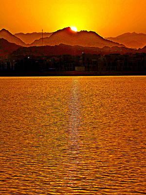 Golden Sunset.    Texture. Original