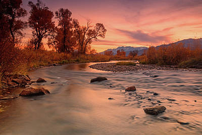 Photograph - Golden Sunset At The Provo River by Johnny Adolphson