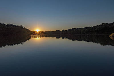 Photograph - Golden Sunset by Charles Kraus
