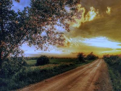 Golden Sunset Art Print by Dustin Soph