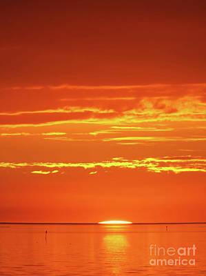 Photograph - Golden Sunset by D Hackett