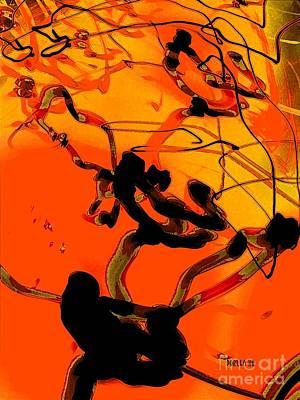 Digital Art - Golden Sunset by Dorlea Ho