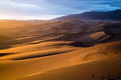 Golden Sunset In The Dunes Art Print by Adam Pender