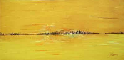 Design Turnpike Vintage Farmouse - Golden Sunset by Jack Diamond