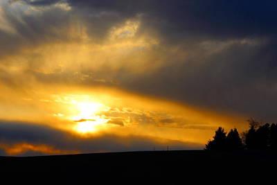 Photograph - Golden Sunset by Jean Evans
