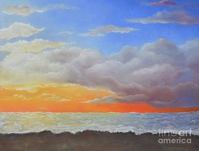 Painting - Golden Sunset by Michelle Welles