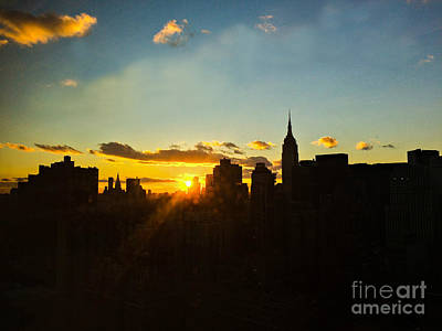Photograph - Golden Sunset - New York by Miriam Danar