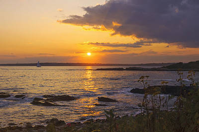 Photograph - Golden Sunset Newport by Marianne Campolongo
