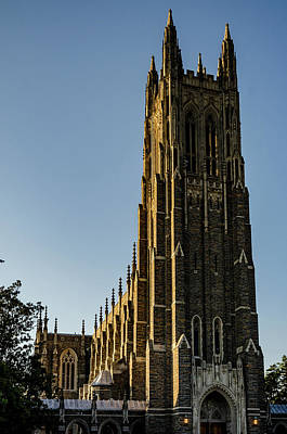 Photograph - Golden Sunset On The Duke Chapel by Anthony Doudt