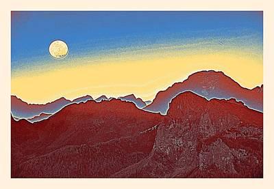 Mellow Yellow - Golden Sunset over Sierras Poster by Adam Asar 2m by Adam Asar