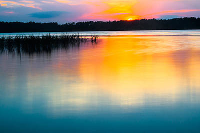 Photograph - Golden Sunset by Parker Cunningham