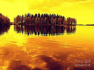 Photograph - Golden Sunset by Pauli Hyvonen