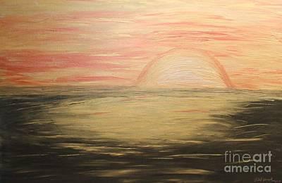 Golden Sunset Art Print by Rachel Hannah