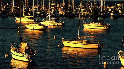 Photograph - Golden Sunset On Boats by Roberta Byram
