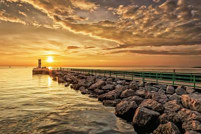 Photograph - Golden Sunset by Thomas Pettengill