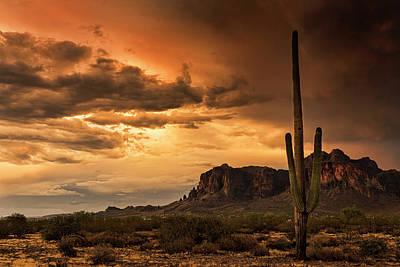 Photograph - Golden Superstition Sunset  by Saija Lehtonen