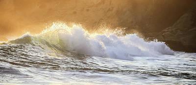 Photograph - Golden Surf by Cliff Wassmann