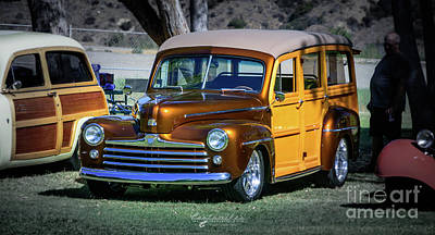 Photograph - Golden Surf Wagon by Customikes Fun Photography and Film Aka K Mikael Wallin