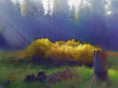 Feild Painting - Golden Surprise by Stephen Lucas