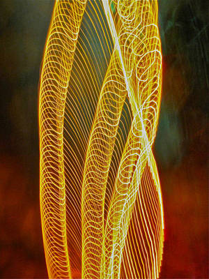 Art Print featuring the photograph Golden Swirl Abstract by Sean Griffin