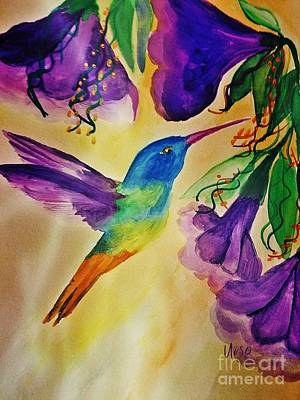 Painting - Golden Tailed Sapphire by Maria Urso