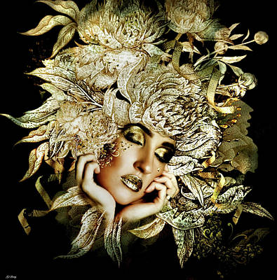 Erotica Mixed Media - Golden Tear by G Berry